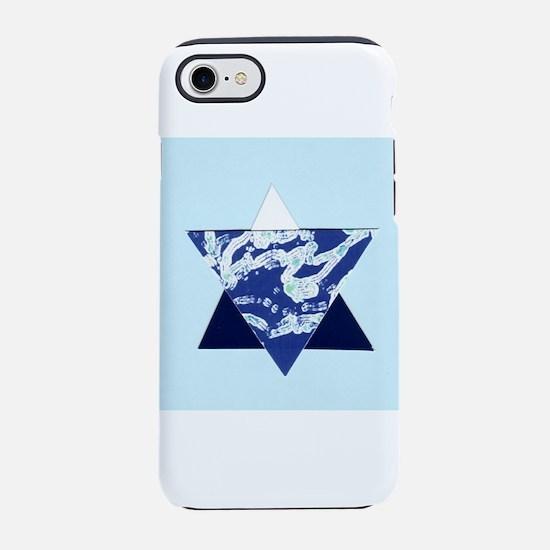 Blue Star of David Hanukkah Me iPhone 7 Tough Case