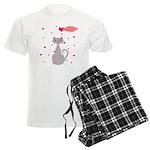 Pink Gray Love Cat Pajamas