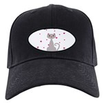 Pink Gray Love Cat Baseball Hat