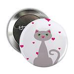 Pink Gray Love Cat 2.25