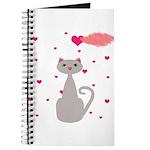 Pink Gray Love Cat Journal