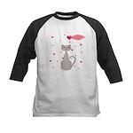 Pink Gray Love Cat Baseball Jersey