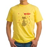 Pink Gray Love Cat T-Shirt