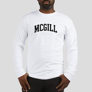 MCGILL (curve-black) Long Sleeve T-Shirt
