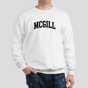 MCGILL (curve-black) Sweatshirt