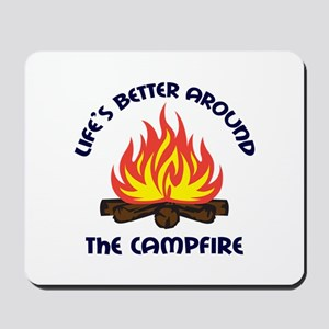AROUND THE CAMPFIRE Mousepad