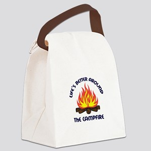AROUND THE CAMPFIRE Canvas Lunch Bag