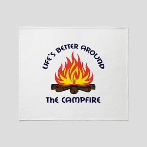 AROUND THE CAMPFIRE Throw Blanket