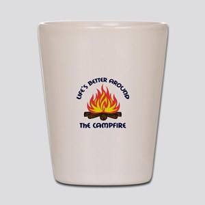 AROUND THE CAMPFIRE Shot Glass