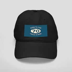 70th Birthday Fishing Black Cap