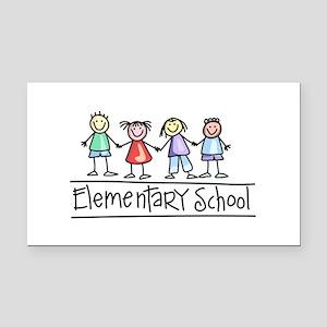 Elementary School Rectangle Car Magnet