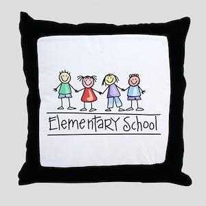 Elementary School Throw Pillow