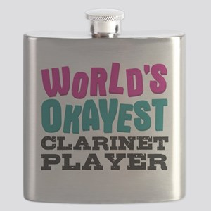 World's Okayest Clarinet Player Flask