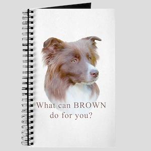 Border Collie BROWN Journal