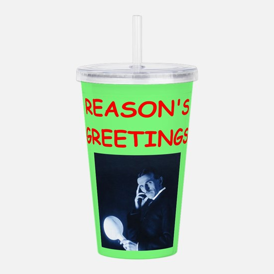 Cool Atheist science Acrylic Double-wall Tumbler
