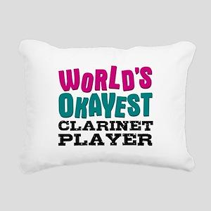 World's Okayest Clarinet Rectangular Canvas Pillow