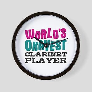 World's Okayest Clarinet Player Wall Clock