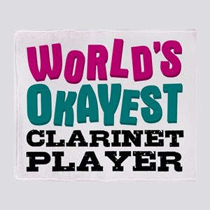 World's Okayest Clarinet Player Throw Blanket