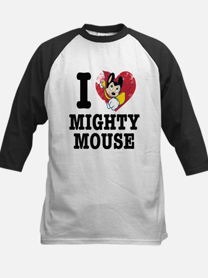 I Love Mighty Mouse Baseball Jersey