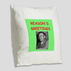 linus pauling Burlap Throw Pillow