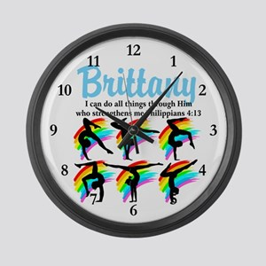 BLESSED GYMNAST Large Wall Clock