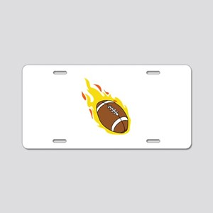 FLAMING FOOTBALL Aluminum License Plate