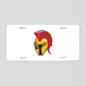 ROMAN HELMET Aluminum License Plate