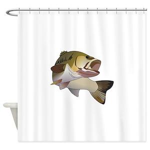 Freshwater Fishing Shower Curtains