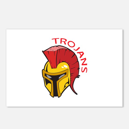 TROJANS MASCOT Postcards (Package of 8)