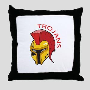 TROJANS MASCOT Throw Pillow