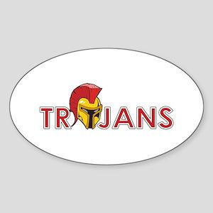 TROJANS FULL BACK Sticker