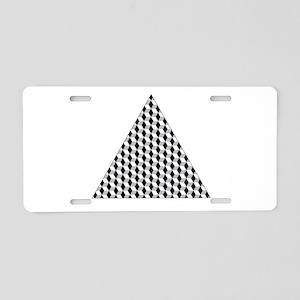 Triangle Aluminum License Plate