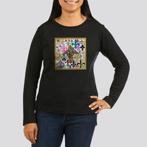 Fleur De Lis Women's Dark Long Sleeve T-Shirt