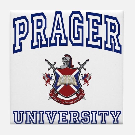 PRAGER University Tile Coaster
