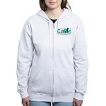 Women's Grey Or Pink Zip Hoodie Sweatshirt