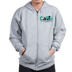 Men's Grey Zip Hoodie Sweatshirt