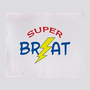 SUPER BRAT Throw Blanket
