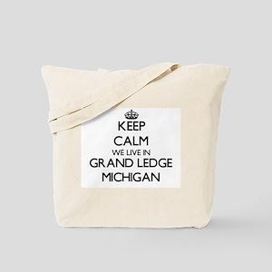 Keep calm we live in Grand Ledge Michigan Tote Bag