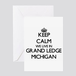 Keep calm we live in Grand Ledge Mi Greeting Cards