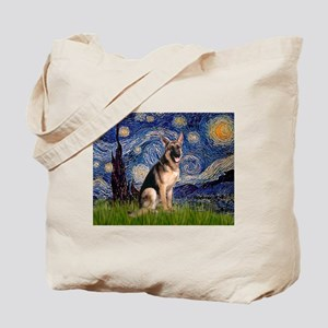 Starry Night & German Shepherd Tote Bag