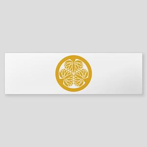 Tokugawa Hollyhock 13 edo Bumper Sticker