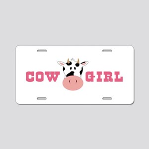 Cow Girl Aluminum License Plate
