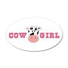 Cow Girl Wall Decal