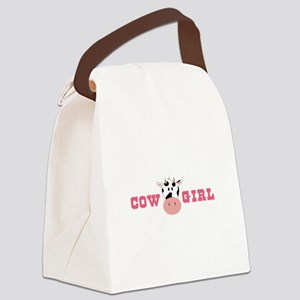 Cow Girl Canvas Lunch Bag