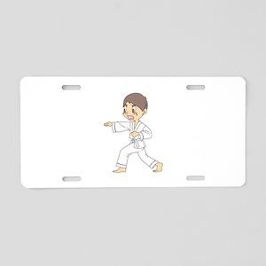 KARATE BOY Aluminum License Plate