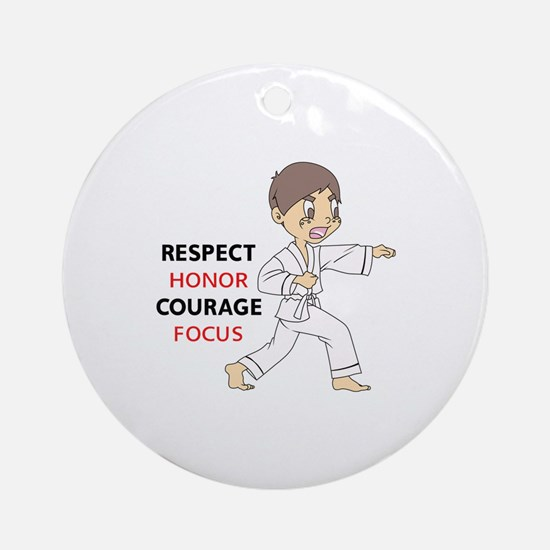 COURAGE HONOR RESPECT Ornament (Round)