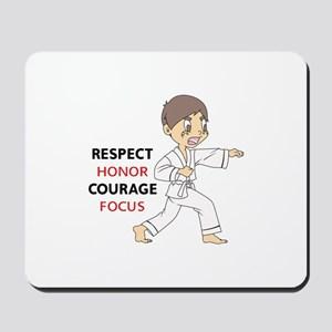 COURAGE HONOR RESPECT Mousepad