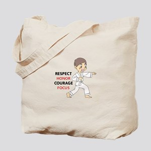 COURAGE HONOR RESPECT Tote Bag