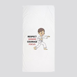 COURAGE HONOR RESPECT Beach Towel