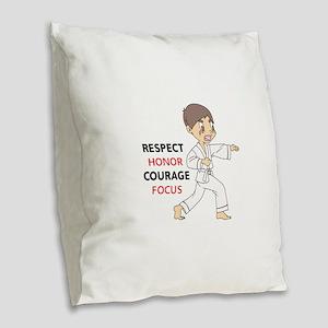 COURAGE HONOR RESPECT Burlap Throw Pillow